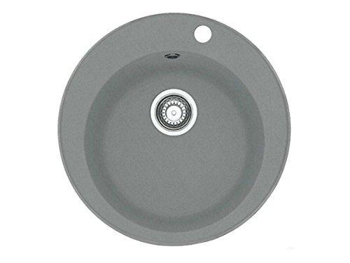 Franke pamira rOG 610–41 granite gris pierre ronde bassin évier de cuisine