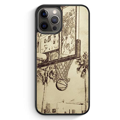 Vintage Basketball - Silikon Hülle für iPhone 12 Pro - Motiv Design Cool - Cover Handyhülle Schutzhülle Hülle Schale