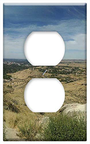 Switch Plate Outlet Cover - Boise Panorama Idaho Cityscape Landscape Panoramic