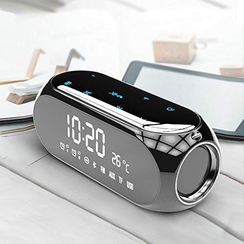 LKU Wekker Klok draadloze bluetooth speaker mobiele telefoon computer wekker digitale radio mini wekker