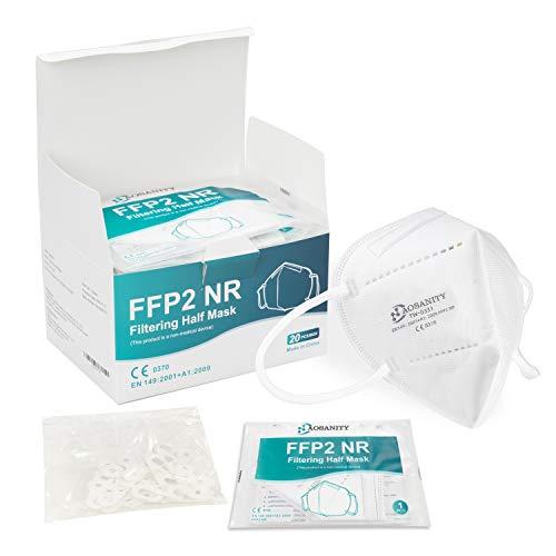 AOSANITY FFP2 Maske CE Zertifiziert Mundmaske Masken Mundschutz Maske FFP2 Faltbare Staubschutzmasken Gesichtmaske Atemschutzmaske Europäischen Norm EN149:2001+A1:2009