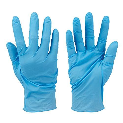 RSL Santex - Confezione da 200 guanti medi in nitrile monouso per adulti, senza polvere, colore blu, molto durevoli e resistenti, spedizione 24-48 ore.