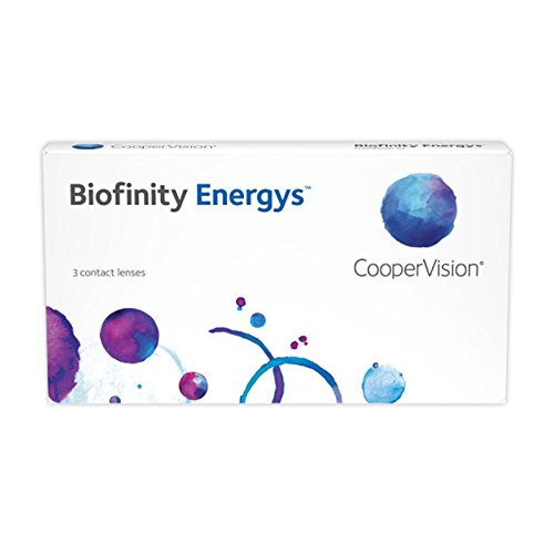 Cooper Vision Biofinity Energys, Monatslinsen weich, 6 Stück / BC 8.6 mm / DIA 14.0 mm / -3.25 Dioptrien