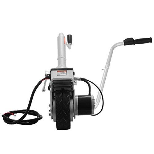 Happybuy Roue Jockey Remorque 12V/350w Roue Jockey Motorisée Charge Max. 2270 KG pour Déplacement de Voitures