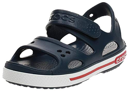 Crocs Kids' Crocband Ii Sandal, Navy/White, 8 M US Toddler