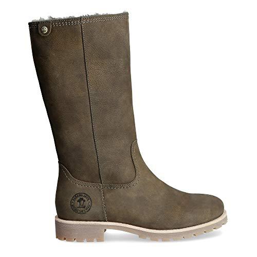 Panama Jack Damen Winterstiefel Bambina Igloo,Frauen Winter-Boots,Fellboots,Lammfellstiefel,Fellstiefel,gefüttert,warm,Khaki,EU 38