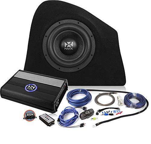 NVX Powered Boost Kit for 2006-2013 Lexus is 250/350/F Sub Upgrade - Includes Loaded Subwoofer Enclosure, Amplifier, Amplifier Wiring Kit, and Line Output Converter