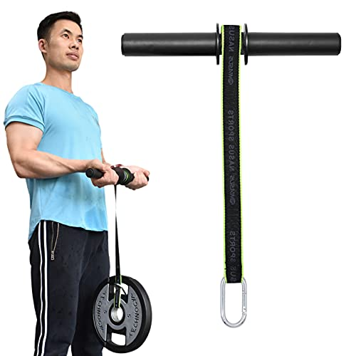 XonyiCos Forearm Wrist Roller Fitness Blaster, Arm Exerciser Wrist Trainer, Forearm Muscle Strength Workouts Tools, Weight Bearing Rope Roller Equipment with Non Slip Cushion, Rope for Dumbbells