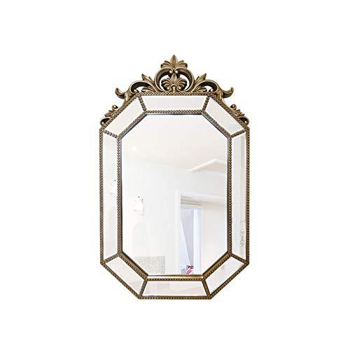 Decoración del hogar Espejos Gran Princesa Espejo, Estilo Europeo Irregular Estilo Espejo Completo Espejo Antiguo Espejo Decorativo De Pared 106 * 65 Cm Espejos de baño(Size:106*65CM,Color:B)