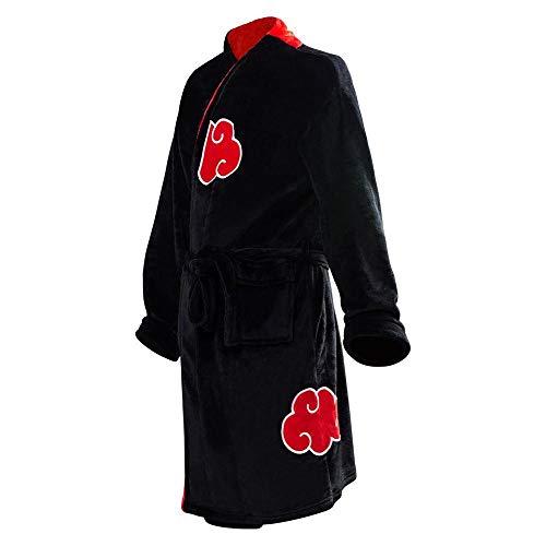 YSHANT Anime Naruto Robe Cosplay Akatsuki Bademantel Fleece Warme Nachthemd Robe Männer Herbst Winter Mantel Nachtwäsche