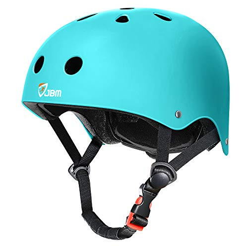 JBM Skateboard Helmet Impact Resistance Ventilation for Multi-Sports Cycling Skateboarding Scooter Roller Skate Inline Skating Longboard (Green, Medium)