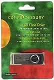 Compucessory CCS26465 Password Protected USB Flash Drives, Compact, black