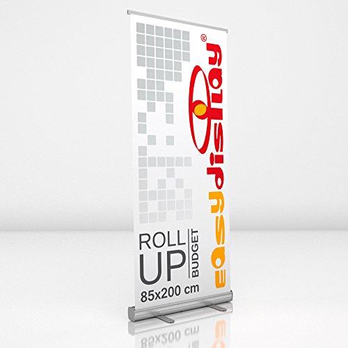 Roll Up Display 85x200cm inkl. Druck, Werbeaufsteller RollUp Budget, Displaybanner