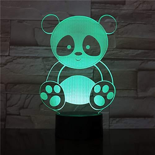 Niedliche Pandaentwurfsnachtlichtkindermehrfarbensüßes Änderungsgeschenk