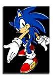 Movie Sonic The Hedgehog Sonic in Cool Poses Bedroom Wall Art Drawing Decor for Living Room Bedroom Unframed 12x16 inch