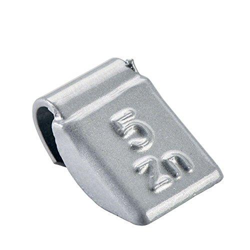 PERFECT EQUIPMENT Wuchtgewichte Stahlfelgen 5g | 100x Schlaggewichte Silber beschichtet | Auswuchtgewichte Stahlfelgen Schlaggewicht Stahl