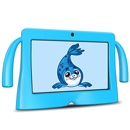 Kids Tablet, 7 Inch HD Display Android 8.1 Tablet for Kids with WiFi, Parental Control, 16GB Dual Camera Tablet for Children, Blue Kid-Proof Case