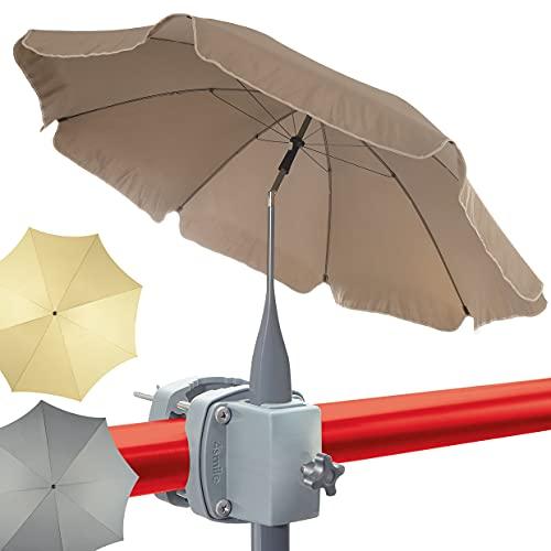 4smile set - parasol + soporte sombrilla barandilla de balc�