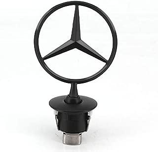 Guzetop Hood Star Emblem Benz 3D Matte Black Logo fit forMercedes Ben