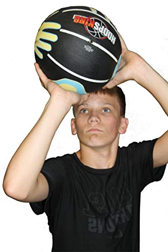 HoopsKing Skill Shooter Basketball, Basketball with Hands On It, (Regulation 29.5')
