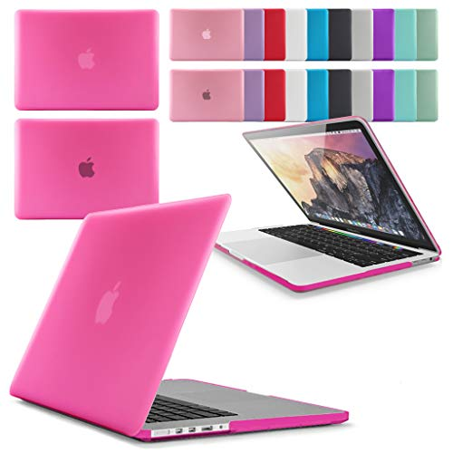 GUPi Rubberized Hard Shell Case Cover for Apple MacBook Pro [15-inch Pro A1398 (Retina Display) - 2012-2015], [HOT PINK]