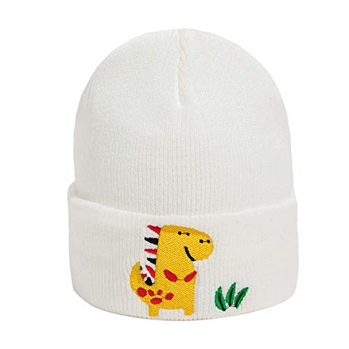 NCONCO Baby Kleinkind Strickmütze Winter Cartoon Stickerei Dinosaurier Beanie Mütze...