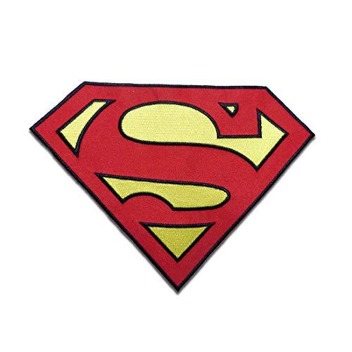 Parches - XL Superman Logo - rojo - 14,5 x 19,8 cm - termoadhesivos bordados aplique para ropa