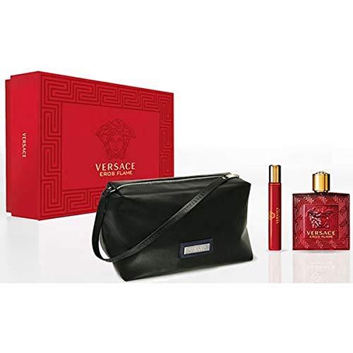 Versace Eros Flame EDP 100 ml + EDP MINI 10 ml + Kosmetiktasche (man)