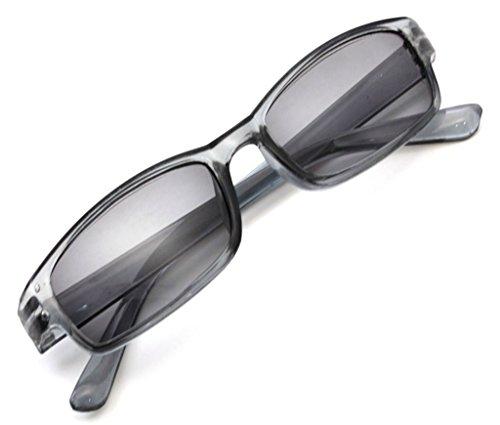 4sold leesbril leesbril heren dames Slim Sun UV400 Reader zonnebril Dioptria (Grey, 2.00)
