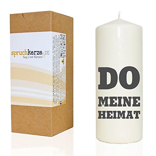WB wohn trends Spruchkerze, DO Meine Heimat Dortmund, grau, 20cm, 680g d7,5cm, Kerze mit Spruch, Brenndauer ca 70 Std