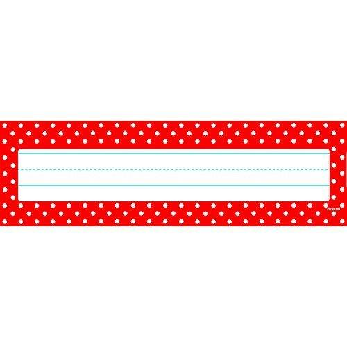 Polka Dots Red Desk Toppers Name Plates by Trend