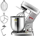 Huanyu Commercial Stand Mixer 10QT 500W Electric Dough Blender with Stainless Steel Bowl Dough Hook...