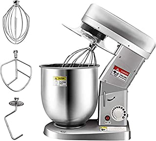 Huanyu Commercial Stand Mixer 10QT 500W Electric Dough Blender with Stainless Steel Bowl Dough Hook Flat Beater Whisk 3 In 1 Multifunctional Food Mixing Machine 180 °Agitating Home Use 110V USplug