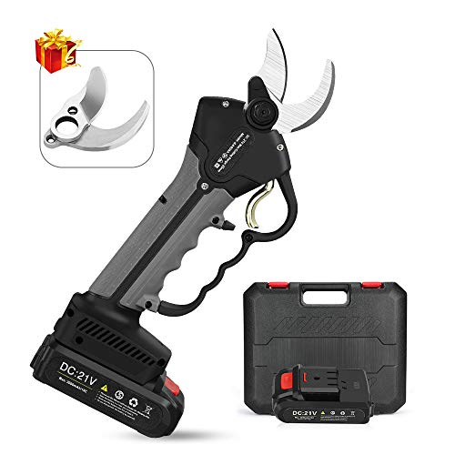 Seesii Professional Cordless Electric Pruning Shears with 2PCS Backup 21V 2Ah Lithium Battery...