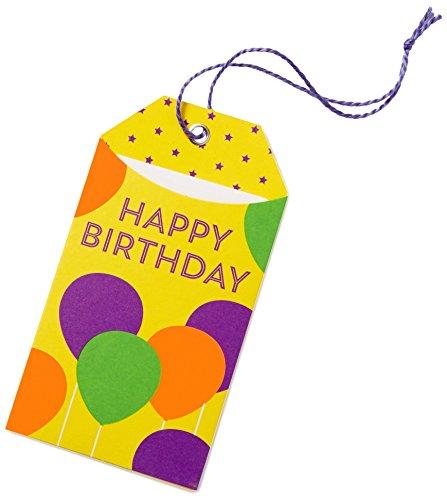 Amazon.de Geschenkkarte in Geschenkanhänger - 50 EUR (Happy Birthday)