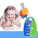 Morninganswer Simulación Control Remoto Coche Cerradura de Llave Juguete Juego de simulación Música Intermitente Juguete electrónico Juguete Educativo temprano para niños Azul
