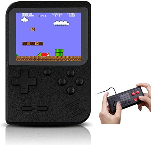 ARCADORA Retro Handheld Game Console Built in 400 Games FC System Plus Extra Joystick for 2 Player Portable Mini Controller 3 Inch Support TV for Boy Kids Adult Gift