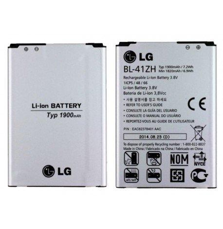 Batería original LG BL-41ZH para Leon 4 G Lte H340 N, L50 D213 N, L Fino D290 N 1900 mAh Li-ion Bulk