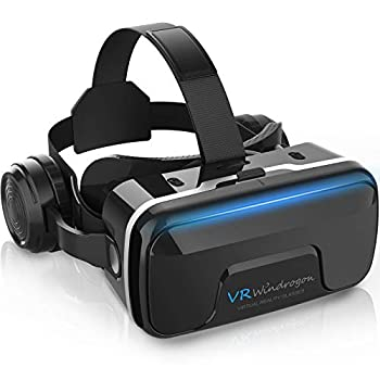 VR Headset WinDrogon VR Glasses for iPhone and Android Phones 3D Virtual Reality Headset Compatible with 4.7-6.5 Inch Smartphones with Good Heat Dissipation 120° Viewing Angle Eye Protection