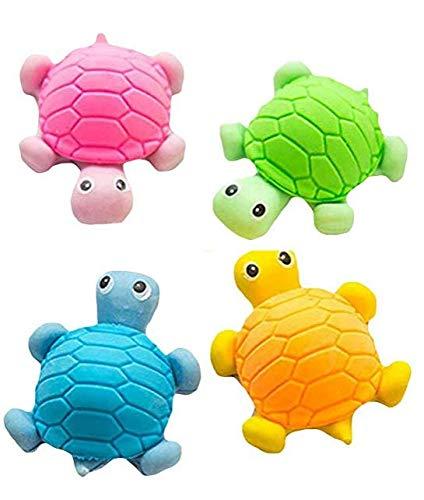 5 unids lindo lápiz tortuga goma borradores escuela oficina papelería niño niños color al azar
