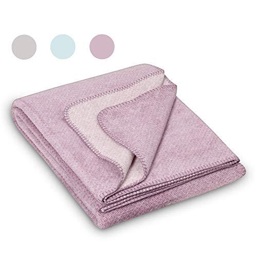 kids&me kuschelige Babydecken für Mädchen - die perfekte Decke für Babys aus 100% Bio-Baumwolle - flauschige Baumwolldecke Made in Germany in der Farbe malve - 70x100cm