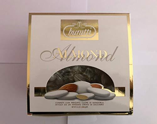 Buratti Confetti Avola Regina Bianco 1 kg Incartati Singolarmente ottimi per Matrimonio - Battesimo e Ricevimenti vari