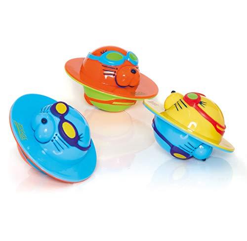 Zoggs Unisex Baby Seal Flips Pool-Spielzeug und Wasserspielzeug, Mehrfarbig, 4+ Months