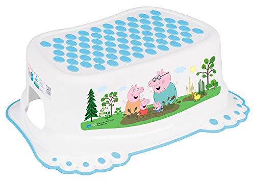 Taburete Escalón Seguro Antideslizantes Bebé Niños Entrenamiento Baño Bebés Orinal - Peppa Pig Azul