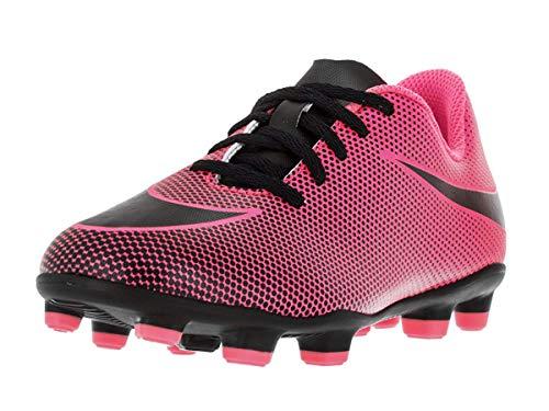 Nike Boy's JR Bravata II FG Soccer Cleats, Pink Blast/Black, 10 Toddler