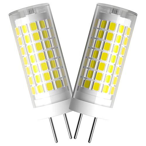 BQHY 6W G6.35 LED Bombilla luz No Regulable Blanco Frío 6000K 85V-265V Doble Pin LED Bombilla Reemplazar Incandescente 75W 2-Packs [Clase de eficiencia energética A++]