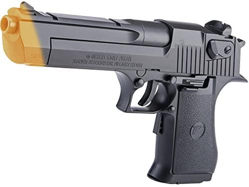 Evike Softair Full Size Licensed Desert Eagle Electric Blowback Airsoft Pistol - Black