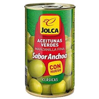 Aceitunas Verdes - Spanische grüne Manzanilla-Oliven - Anchovi-Geschmack