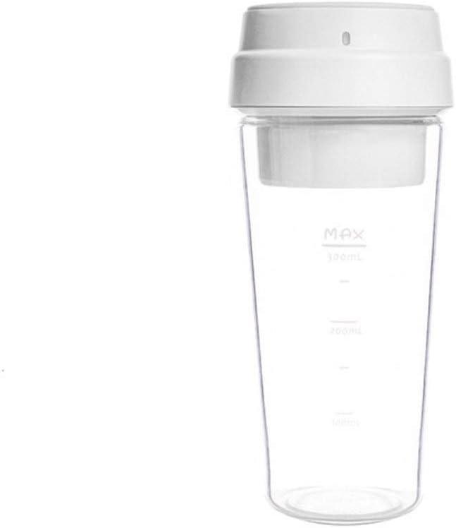 YJXD 17PIN Star Fruit Cup Mini Blender Portable Blender Cuisine Compain 400 ML 30 Secondes Charged magnétique de jus Rapide (Color : Pink) White