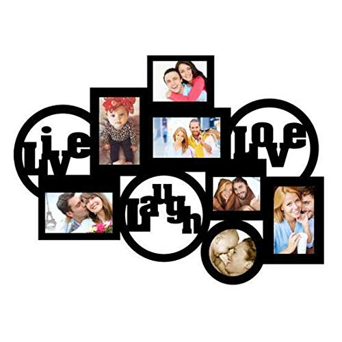 GiftsWale Live Love Laugh 7 in Collage Photo Frame | Decorative Gift for Mom Dad and Your Loved Ones for Best Moments